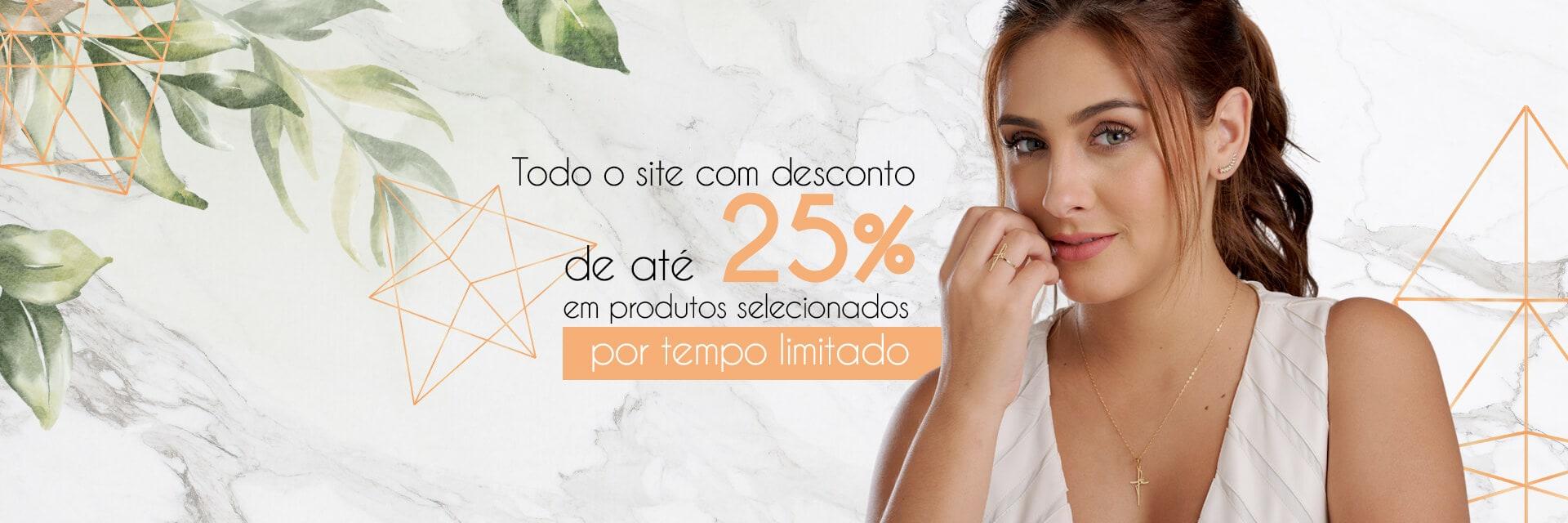 25% Em todo Site