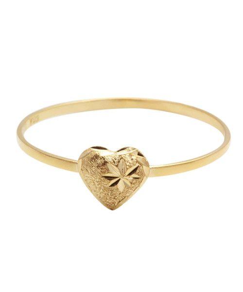 Anel em Ouro 18k/750 Coração Fosco com Detalhe Diamantado