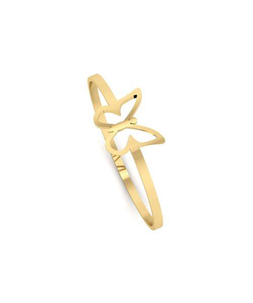 Anel em Ouro 18k/750 Borboleta Delicada P
