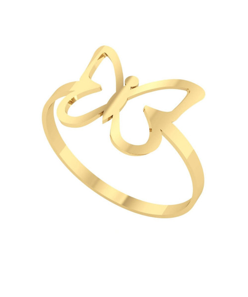 Anel em Ouro 18k/750 Borboleta Delicada G
