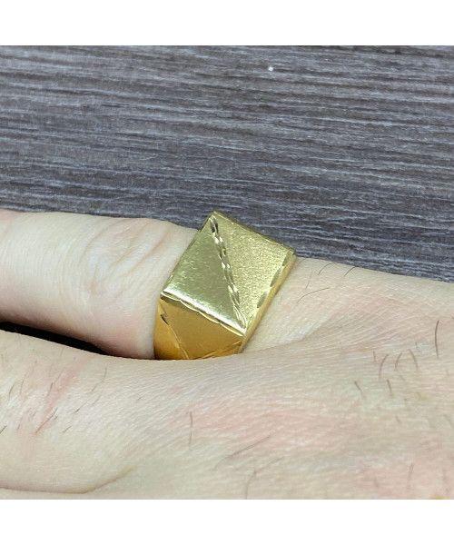 Anel em Ouro 18k/750 Masculino Diamantado