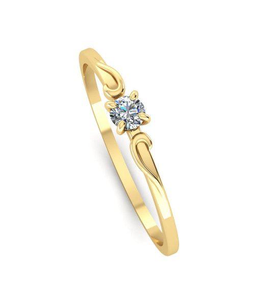 Anel em Ouro 18k/750 Solitário com Diamante 3mm