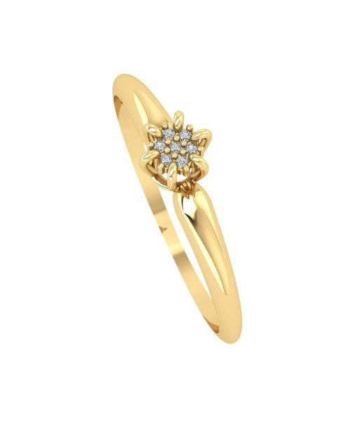 Anel em Ouro 18k/750 Chuveiro Coroa com Diamante