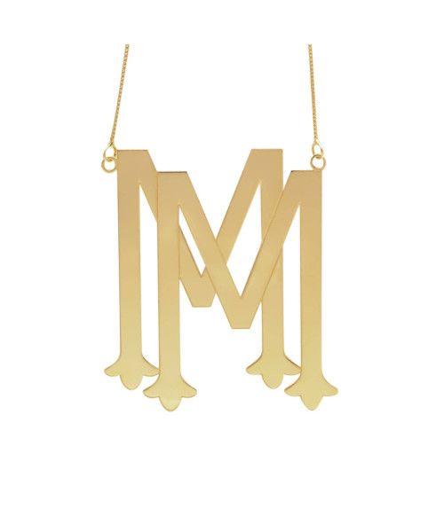 Gargantilha em Ouro 18k/750 Monograma Personalizado com Duas Letras