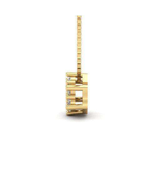 Pingente em Ouro 18k/750 Chuveiro Sextavado com Veneziana 45cm