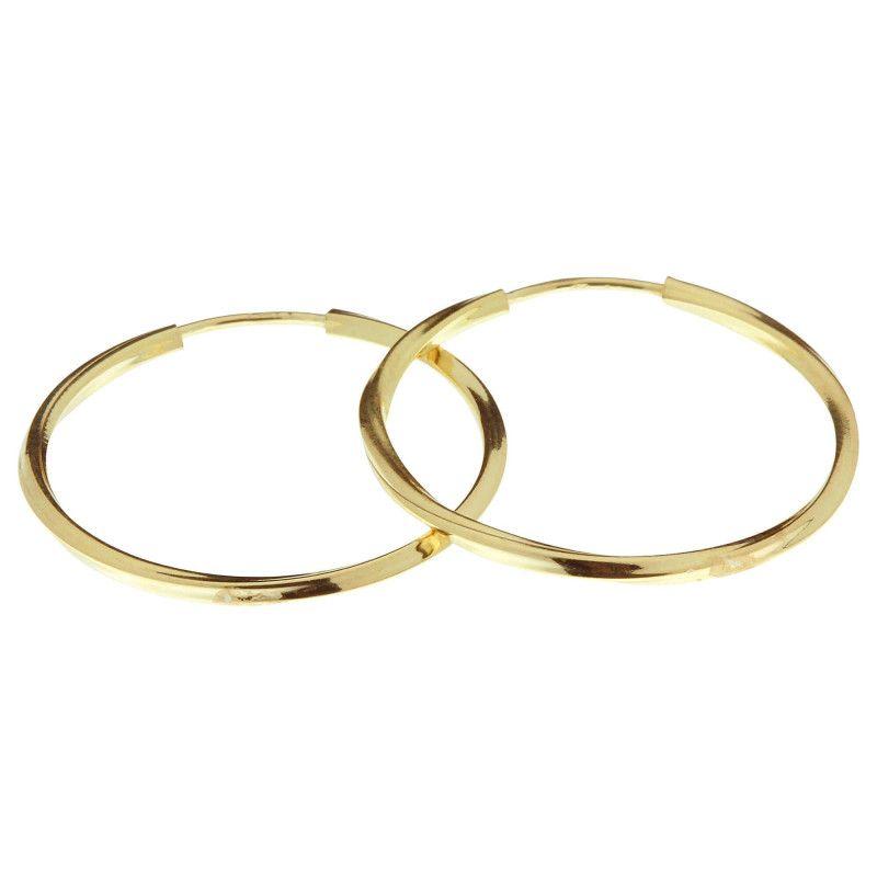 Brinco em Ouro 18k/750 Argola Redonda Torcida 2cm