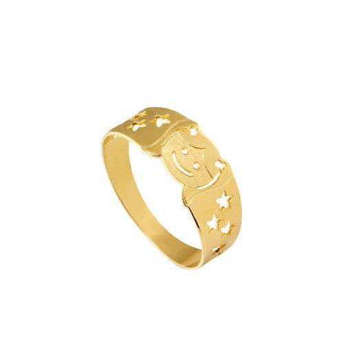 Anel em Ouro 18k/750 Boneca Fosca