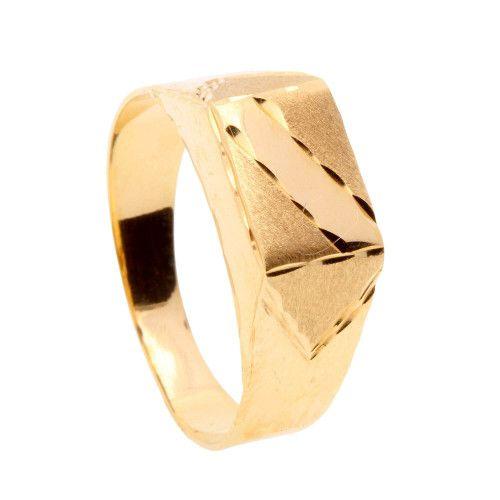 Anel em Ouro 18k/750 Masculino com Faixa Diamantada P