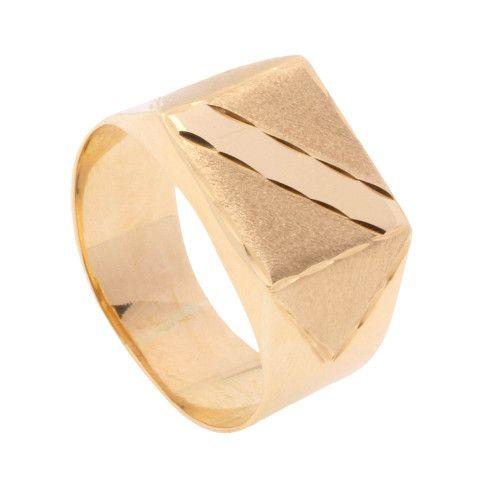 Anel em Ouro 18k/750 Masculino com Faixa Diamantada