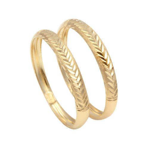 Anel em Ouro 18k/750 Aparador Diamantado