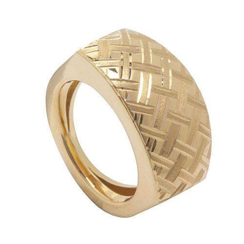 Anel em Ouro 18k/750 Grande Diamantado