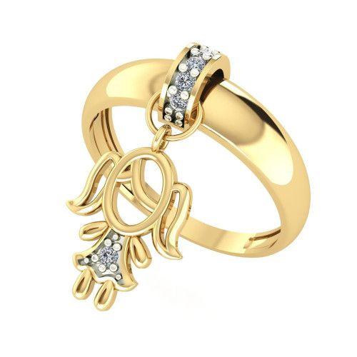 Anel em Ouro 18k/750 Kaká Menina com Diamante