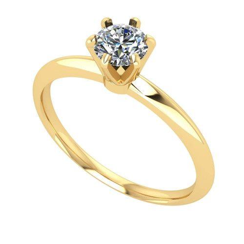 Anel em Ouro 18k/750 Solitário com Pedra de Zircônia 5mm