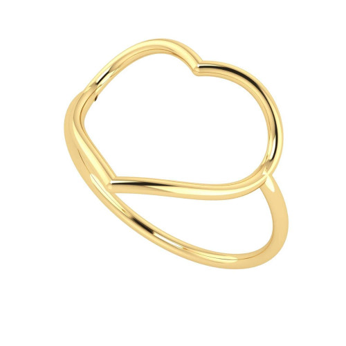 Anel em Ouro 18k/750 Coração Fio