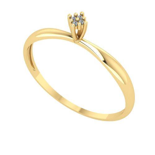 Anel em Ouro 18k/750 Chuveiro com Diamante