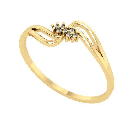 Anel em Ouro 18k/750 Pavê com Diamante