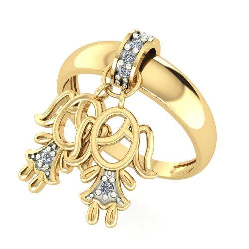Anel em Ouro 18k/750 Kaká Duas Meninas com Diamante