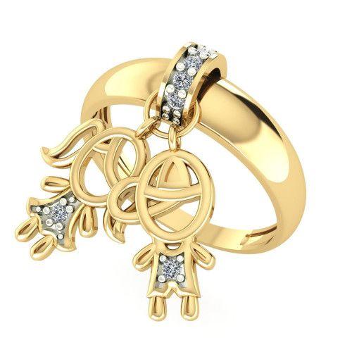 Anel em Ouro 18k/750 Kaká Casal com Diamante