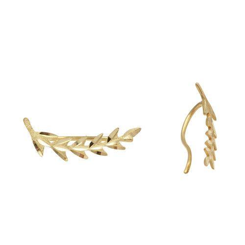 Brinco em Ouro 18k/750 Ear Cuff Setinhas Diamantado