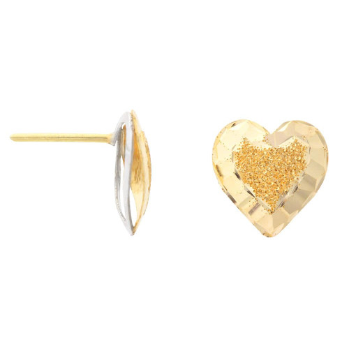 Brinco em Ouro 18k/750 com Detalhe Diamantado e Martelado