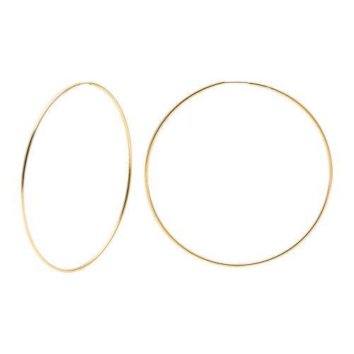 Brinco em Ouro 18k/750 Argola Redonda 4cm