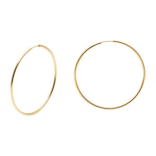 Brinco em Ouro 18k/750 Argola Redondo 4,5cm