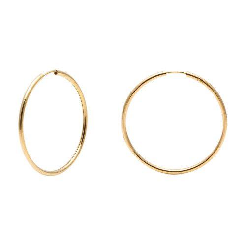 Brinco em Ouro 18k/750 Argola Redonda 3,5cm x 3,5cm