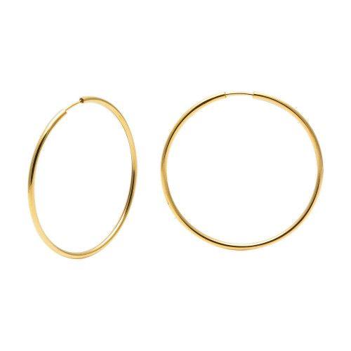 Brinco em Ouro 18k/750 Argola Redonda 4,1cm x 4,1cm