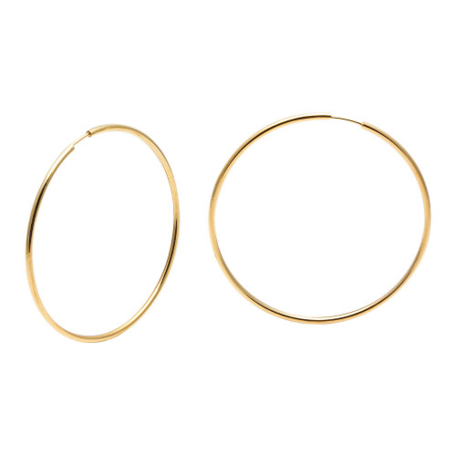 Brinco em Ouro 18k/750 Argola Redonda 5cm x 5cm