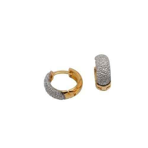 Brinco de Argola em Ouro 18k/750 com Diamantes