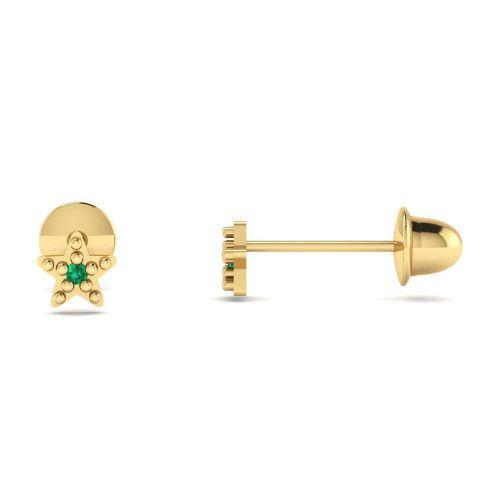 Brinco em Ouro 18k/750 Baby Estrela