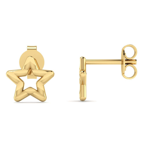 Brinco em Ouro 18k/750 Estrela