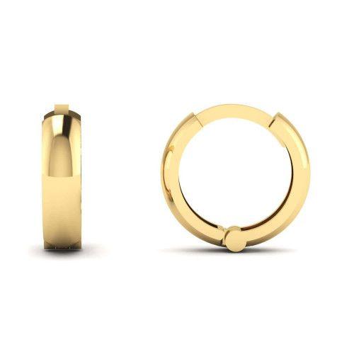 Brinco de Argola em Ouro 18k/750 Liso Pequeno