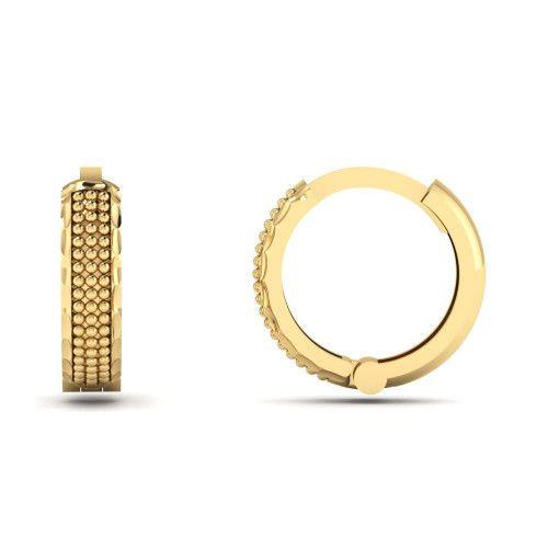 Brinco de Argola em Ouro 18k/750 Falsa Pedra