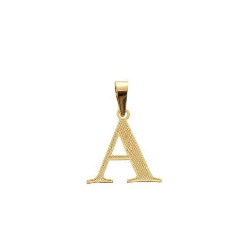Pingente em Ouro 18k/750 Letra Lisa
