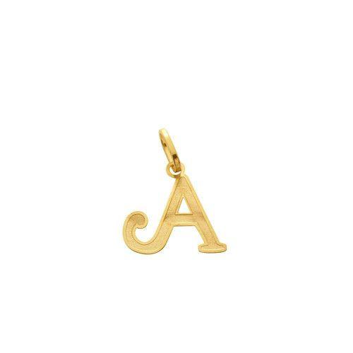 Pingente em Ouro 18k/750 Letra Lisa Pequeno