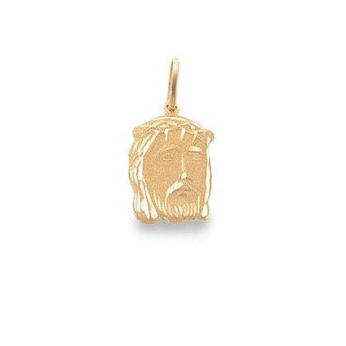 Pingente em Ouro 18k/750 Face de Cristo 13mm x 9mm