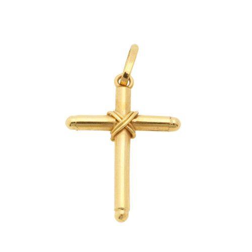 Pingente em Ouro 18k/750 Cruz 14mm x 20mm