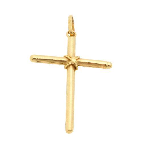 Pingente em Ouro 18k/750 Cruz 20mm x 28mm