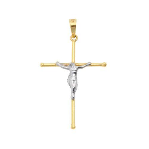 Pingente em Ouro 18k/750 Crucifixo 20mm x 28mm Fino