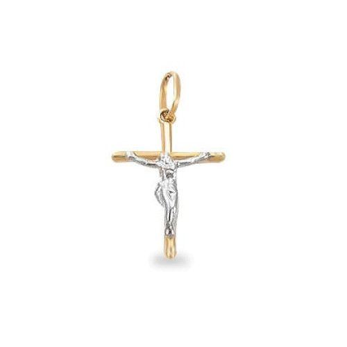 Pingente em Ouro 18k/750 Crucifixo 14mm x 20mm
