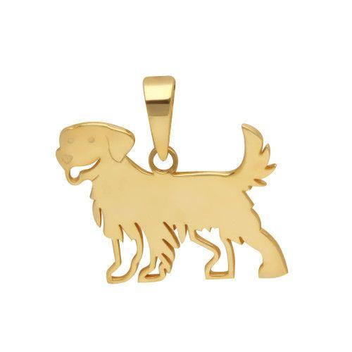 Pingente em Ouro 18k/750 Pet Golden Retriever