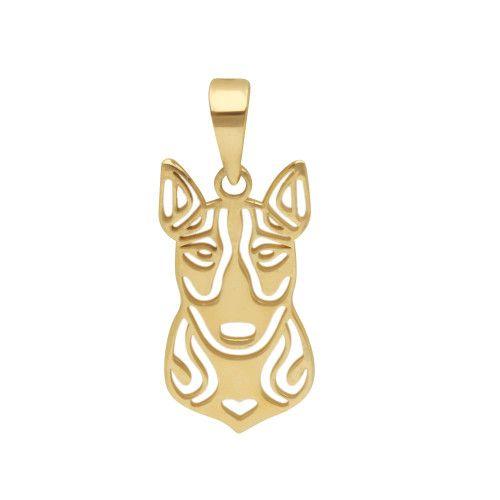 Pingente em Ouro 18k/750 Pet Bull terrier