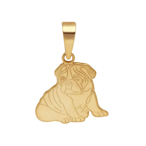 Pingente em Ouro 18k/750 Pet Bulldog