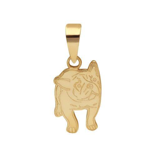 Pingente em Ouro 18k/750 Bulldog Francês