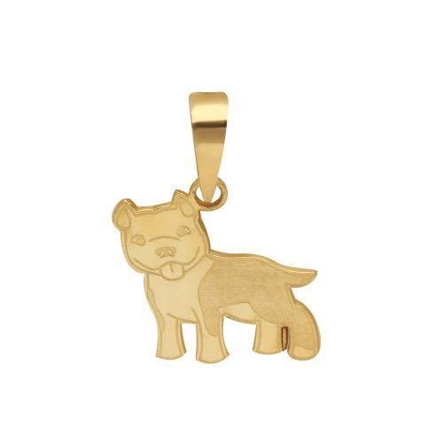 Pingente em Ouro 18k/750 Pet Pitbull