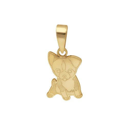 Pingente em Ouro 18k/750 Pet Chihuahua