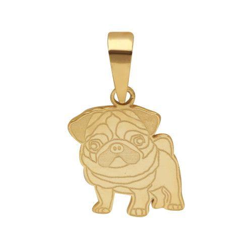 Pingente em Ouro 18k/750 Pet Pug