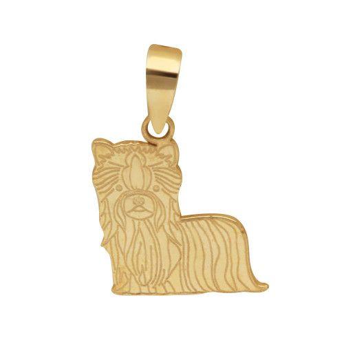 Pingente em Ouro 18k/750 Pet Yorkshire