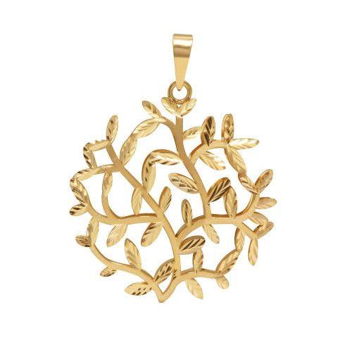 Pingente em Ouro 18k/750 Mandala Árvore da Vida Vazado